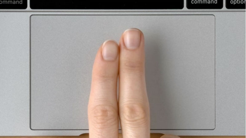 Using Mac Trackpad two finger